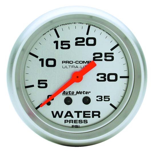 Autometer 4368 Ultra Lite Electric Water Pressure Gauge: Auto Meter 4407 Ultra-Lite Mech Water Pressure Gauge, 35