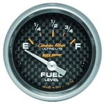 Auto Meter 4714 Carbon Fiber Air-Core Fuel Level Gauge, 2-1/16 Inch