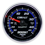 Auto Meter 6108 Cobalt Mechanical Boost/Vacuum Gauge, 2-1/16 Inch