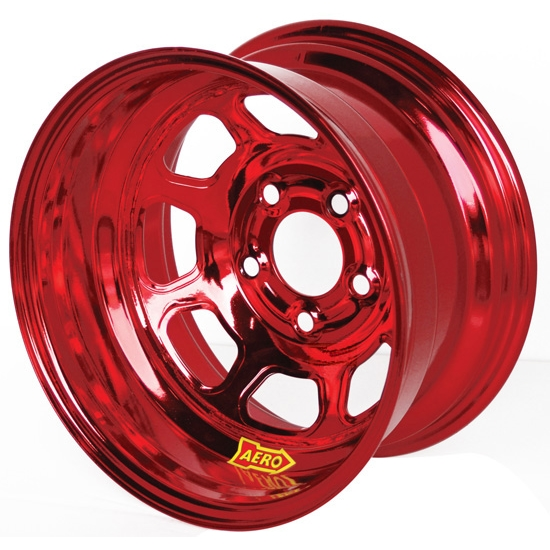 Aero 51-985040RED 51 Series 15x8 Wheel, Spun, 5 on 5 BP, 4 Inch BS