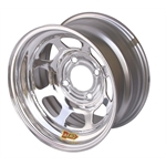Aero 55-274010 55 Series 15x7 Inch Wheel, 4-lug, 4 on 4 BP, 1 Inch BS