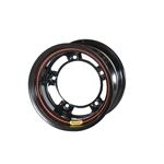 Bassett 50SR2 15X10 Wide-5 2 Inch Backspace Black Wheel