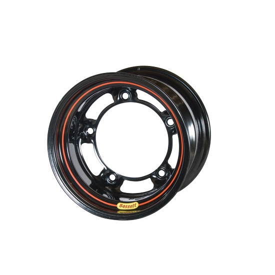 Bassett 585SR5 15X8.5 Wide-5 5 Inch Backspace Black Wheel