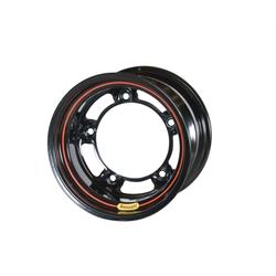 Bassett 585SR5 15X8.5 Wide-5 5 Inch Backspace Black Wheel