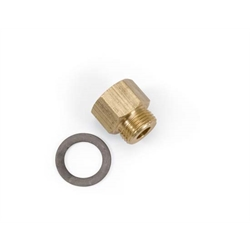 Edelbrock 8090 Carburetor Inlet Fitting, Brass, Natural