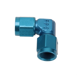 Fragola 496306 Hose End Swivel Coupler Fitting 90 Degree Blue -6AN
