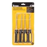 Titan Tools 17223 Jumbo Pick and Hook Set - 4 Piece