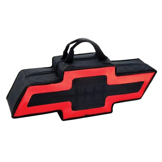 Garage Sale - GOBOXES BT2000BR Chevy Zippered Canvas Go Bag, Black and Red