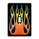 Flamed Black Light Switch Plate