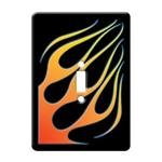 Angled Flamed Light Switch Plate