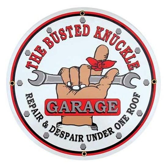 Garage Sale - Busted Knuckle Garage Vintage Tin Sign