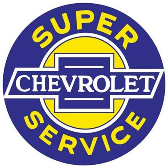 Chevy Super Service Metal Sign