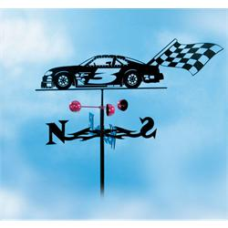 Garage Sale - Stock Car Weathervane, Garden Mount