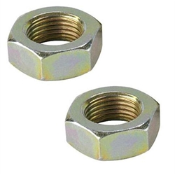 Steel Jam Nuts, 3/8 Inch-24 Right Hand NF Fine Thread, Pack/6