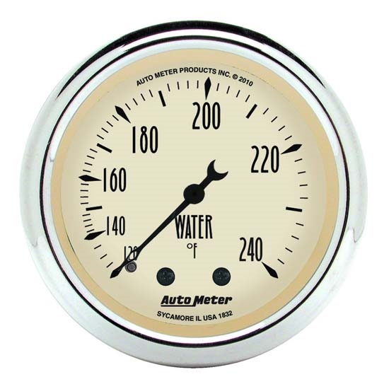 Auto Meter 1832 Antique Beige Mechanical Water Temperature Gauge