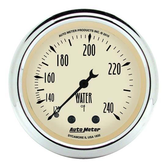 auto meter 1832 antique beige mechanical water temperature gauge ebay. Black Bedroom Furniture Sets. Home Design Ideas