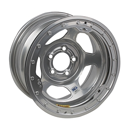 Bassett IMCA Approved Wheel - 15x8, 5 on 4 3/4 Inch, Beadlock