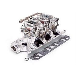 Edelbrock 20354 RPM Air-Gap Dual-Quad Intake Manifold/Carburetor Kit