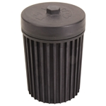 System 1 Filtration Oil Filter 6 Inches Tall Black Anodized Metric Threads