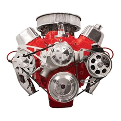 Billet FM2222PC B/B Chevy Mid Mount Serpentine Conversion Kit Press-On