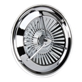 Polara Style Tri-Bar Turbine Hubcaps, 15 Inch, Set/4