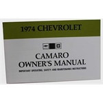 Jim Osborn 74CAOM 1974 Camaro Owners Manual