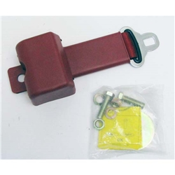 Garage Sale - Push Button Retractable Lap Belt - Red