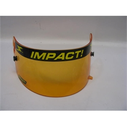 Garage Sale - Impact! Racing Amber Shield, Fits Vaper/Charger Helmets