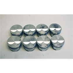 Garage Sale - Icon Chevy 350 Forged Pistons, Flat Top, 5.7 Rod, 040 Over