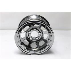 Garage Sale - Bassett Chrome D-Hole 15X8 Inch Wheel, 5on5, Beadlock, 4 Inch Backspace