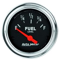 Auto Meter 2514 Traditional Chrome Air-Core Fuel Level Gauge, 2-1/16