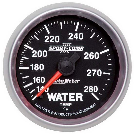 Auto Meter 3631 Sport-Comp II Mechanical Water Temperature Gauge