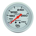 Auto Meter 4441 Ultra-Lite Mechanical Oil Temperature Gauge, 2-5/8