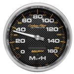Auto Meter 4889 Carbon Fiber Air-Core Speedometer Gauge, 5 Inch