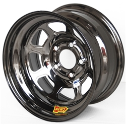 Aero 52-985020BLK 52 Series 15x8 Wheel, 5 on 5 BP, 2 Inch BS, IMCA
