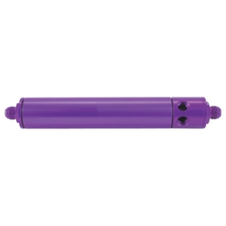 Speedway Purple Aluminum Fuel Filter w/ Return Ports, Paper, 10 Inch