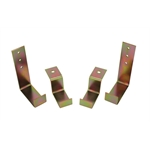 Speedway Steel Radiator Mounting Hardware-2 Upper & Lower Brackets