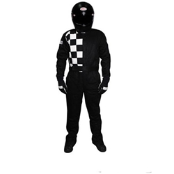 Garage Sale - Finisline One-Piece Double Layer Race Suit, SFI-5, Black, Size XXXL