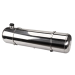 EMPI 3899 Polished Stainless Steel Fuel Tank, 10 x 40 Inch, End Fill, 13.5 Gallon