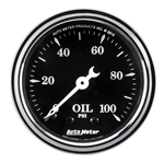 "Auto Meter 1721 Old Tyme Black, 2-1/16"" Oil Pressure, Mechanical"