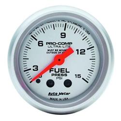 Auto Meter 4313 Ultra-Lite Mechanical Fuel Pressure w/ Isolator Gauge