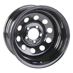 Black Circle Track 15 Inch Wheel, 15x7, 5 on 4 3/4, Non-Beadlock