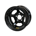 Bassett 58AF3IL 15X8 Inertia 5on4.5 3 In BS IMCA Black Beadlock Wheel