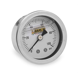 Earls 100187ERL Oil Filled 100 PSI Pressure Gauge