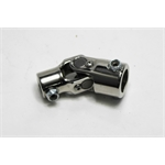 Garage Sale - Sweet Mfg Chrome Steering U-Joint, 3/4 Inch DD to 1 Inch DD, Universal