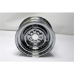 Garage Sale - O/E Style Hot Rod 15 Inch Chrome Steel Wheel, 15x7, 5 on 4-1/2