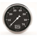 Auto Meter 1798 Old Tyme Black Air-Core In-Dash Tachometer, 3-1/8