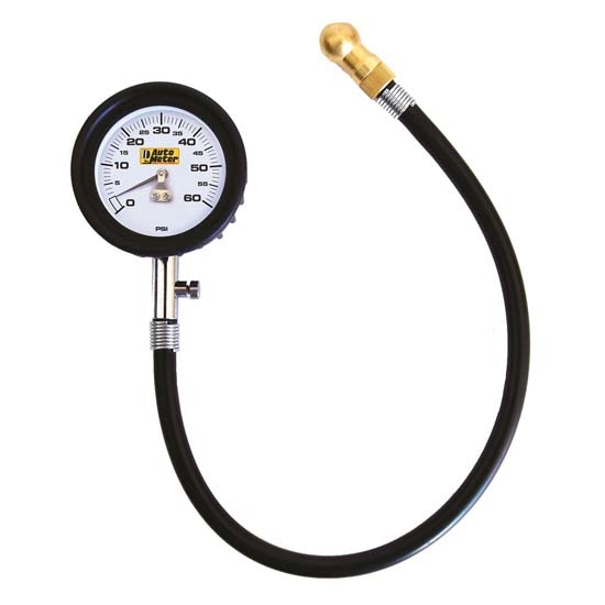 Auto Meter 2160 Mechanical Tire Pressure Gauge, 60 PSI