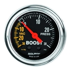 Auto Meter 2403 Traditional Chrome Mechanical Boost/Vacuum Gauge