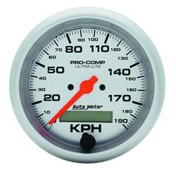 Auto Meter 4487-M Ultra-Lite Air-Core Speedometer, 190km/h, 3-3/8 Inch